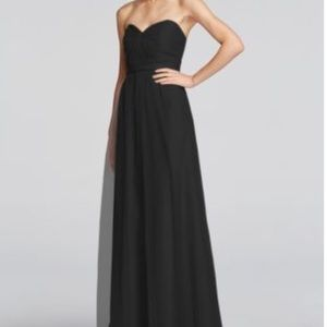 David's Bridal long tulle dress
